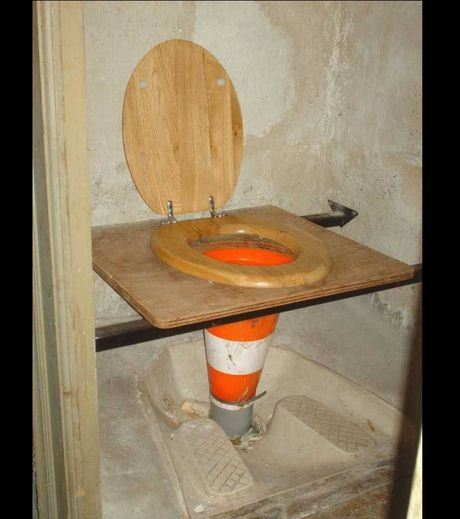 A unique toilet bowl