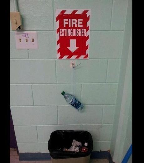 A water bottle as an extinguisher