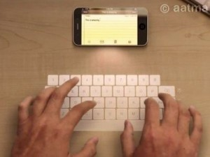 Holographic Keyboard For Future Iphones