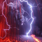 Volcanic eruption With Lightning