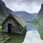 A fishermans hut on a lake in Germany