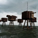 The forts of the Maunsell Sea in England.
