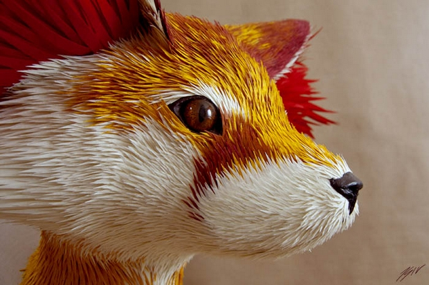 Paper Art: Animal Models Made Using Paper
