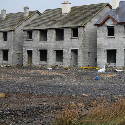 A Keshcarrigan, many buildings remained unfinished.
