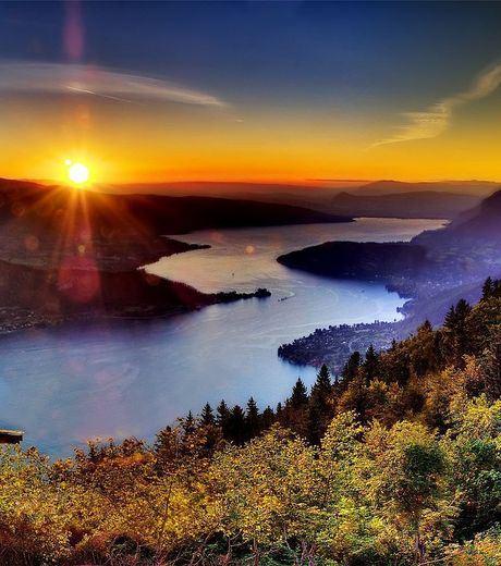 Sunset at Haute-Savoie, Annecy Lake