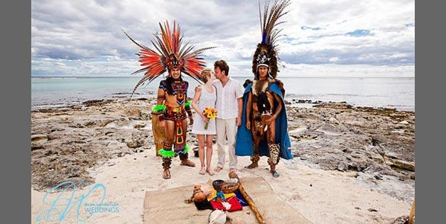 Mayan wedding in Playa del Carmen, Mexico