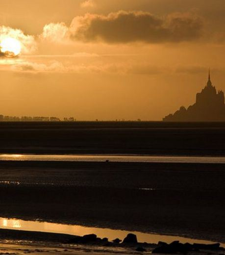 Sunset at Mont Saint-Michel