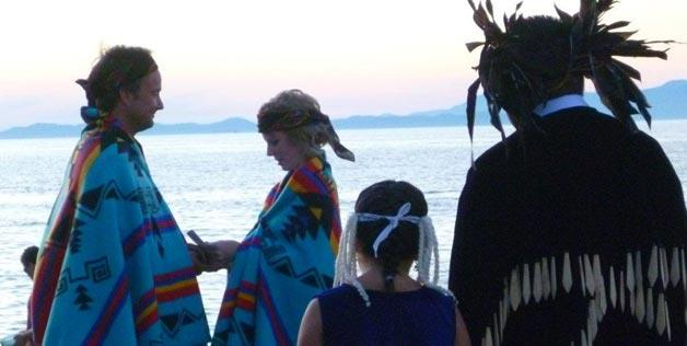 Marriage in Naino, British Columbia