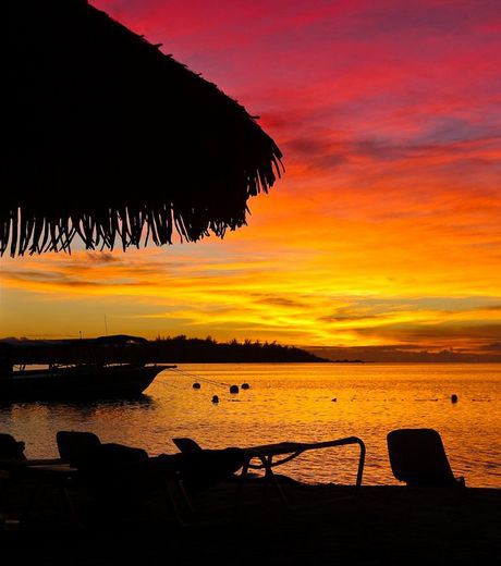 Sunset at Papeete, French Polynesia