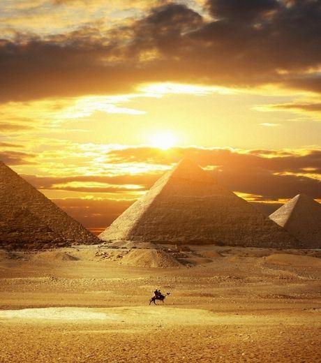 Sunset at Pyramid of Giza