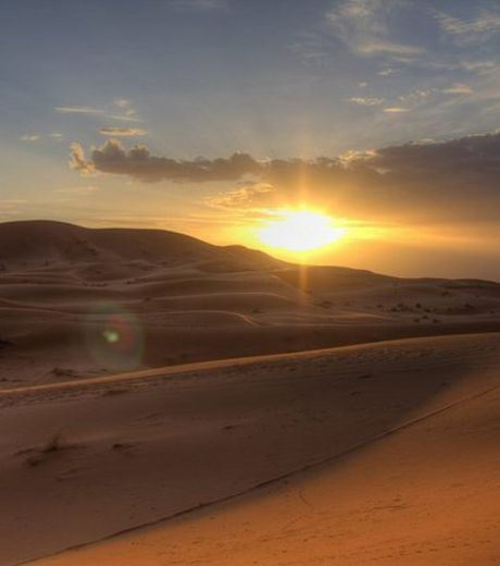Sunset at Sahara Desert