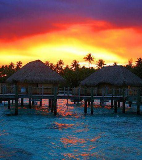 Sunset at Tahiti