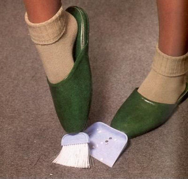 The brush slippers