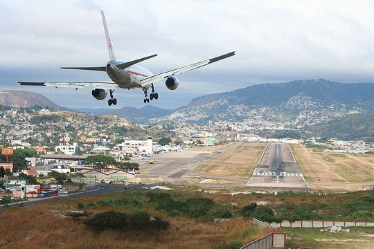 International Aiport of Toncontin in Tegucigalpa