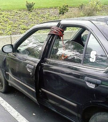A new way to prevent the car door from opening