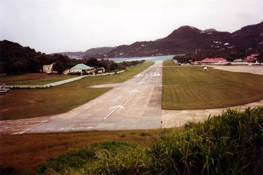 Gustaf III Airport , also known as Saint Barthélemy Airport