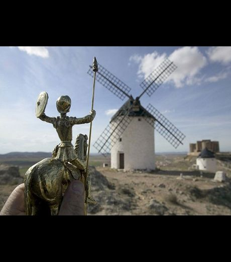 Don Quichotte and the famous wind mill (Credit Michael Hughes)