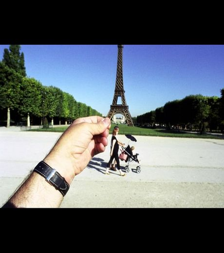 Is it the real Eiffel Tower in Paris (Credit Michael Hughes)