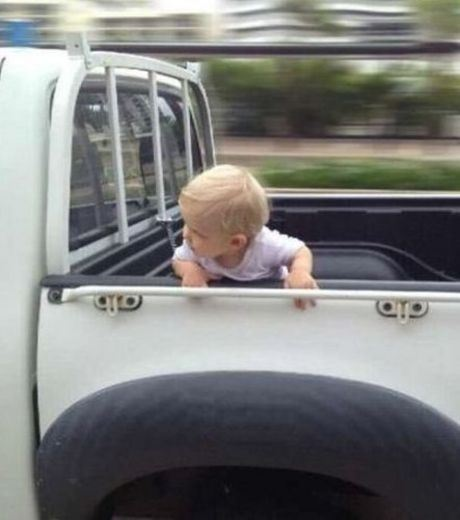 Dangerous Ride For Baby