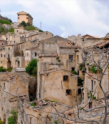 The Italian Village on the height of Romagnano al Monte was abandoned by its population