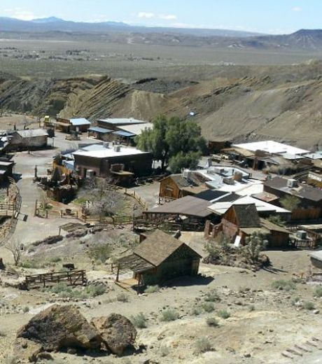 The town of Calico, California, was abandoned by its Inhabitants, and is now a ghost town
