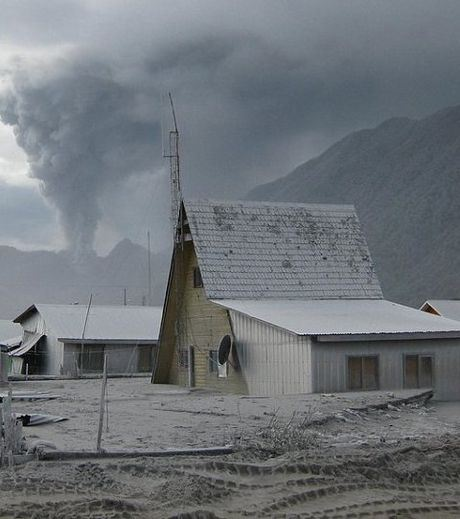 The village of Chaiten, Chile, has-been devastated by a volcanic eruption and is now a ghost town abandoned by the Government.