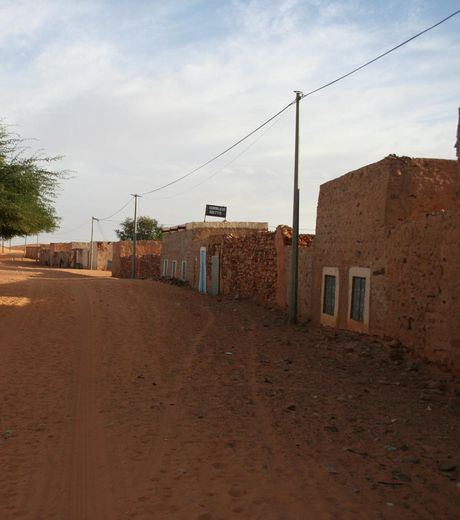 The village in Chinguetti, Mauritania,  Which was abandoned by the village population.
