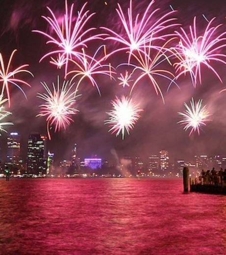 Fireworks in Perth on Australian National Day