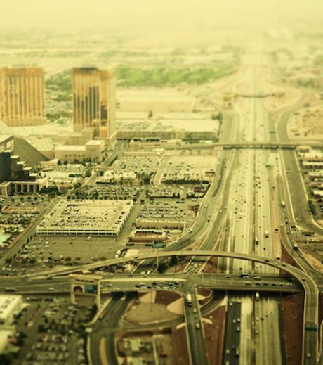 A motorway network of Las Vegas (Credit Ben Thomas)