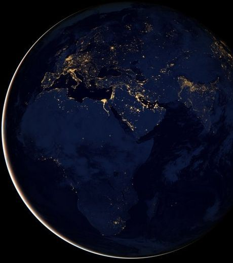 The Middle East and Africa in Night From The Space