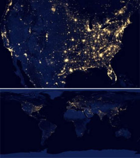 USA and Earth From Space