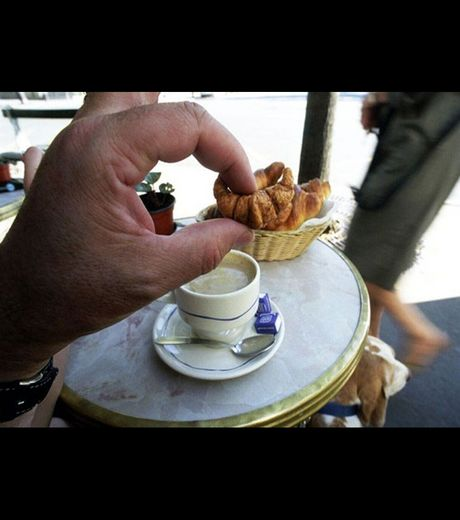 A small Parisian Croissant  (Credit Michael Hughes)