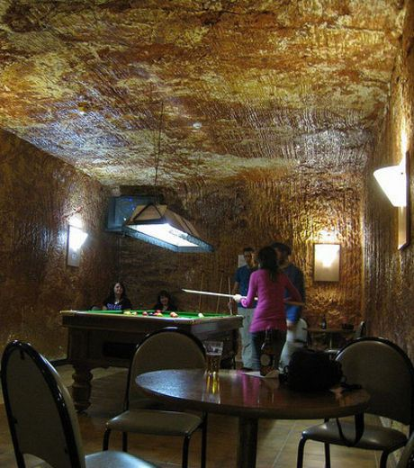 A billiard room in Coober Pedy.