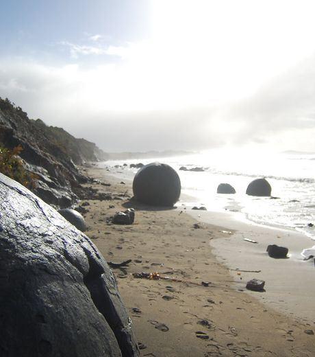 The rocks Of Moeraki in New Zealand.