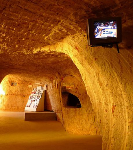 A view inside Coober Pedy