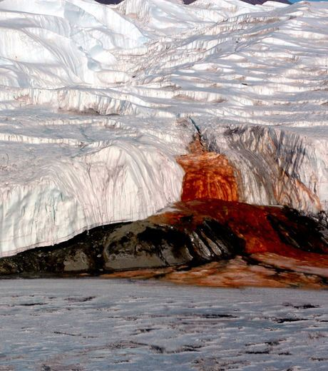 "The ""Blood Falls"" Of Taylor Glacier In Antartica"