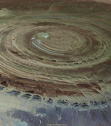 Eye of the Sahara Desert Located In Mauritania