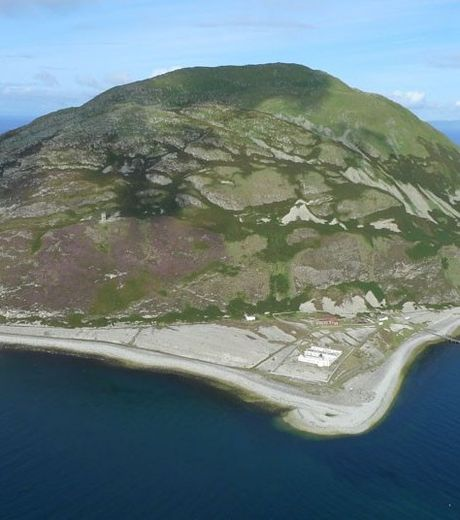 The island of Aryshire in Scotland that resembles a tortoise
