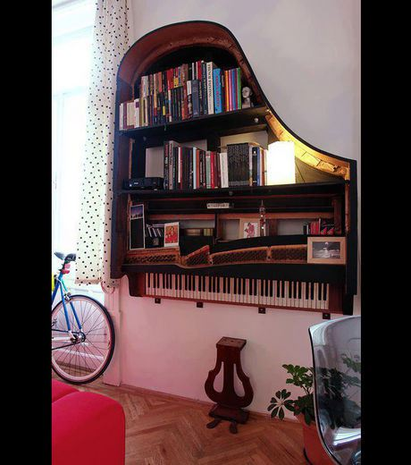 A Piano Used To Make A Library