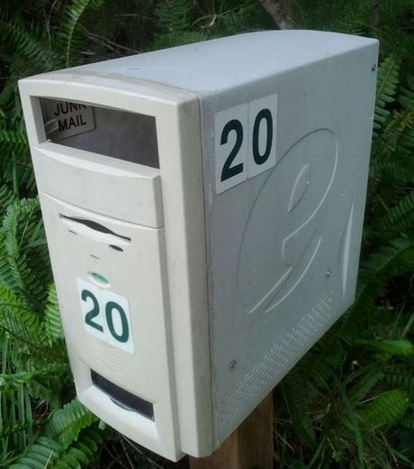 A Mailbox Made From Computer Casing