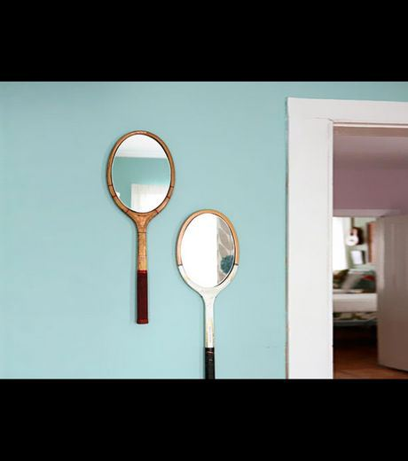 The Wall Mirrors Made From Tennis Rackets