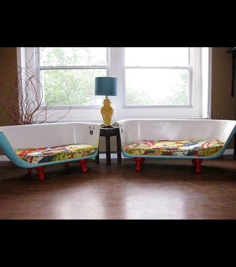 Old Bathtubs Become sofas