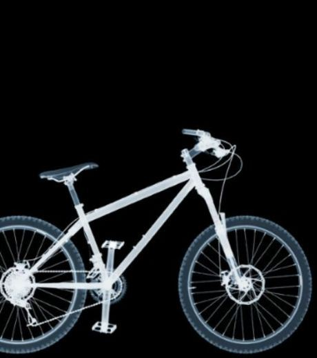 X-Ray Image Of A Bicycle.