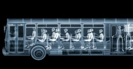 X-Ray Image of A Bus