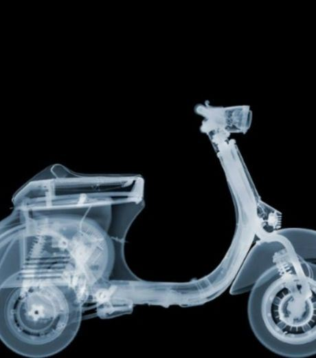 X-Ray Image of A Scooter