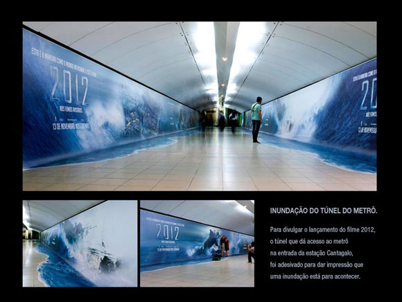 Publicity in the Brazilian subway of a 2012 film