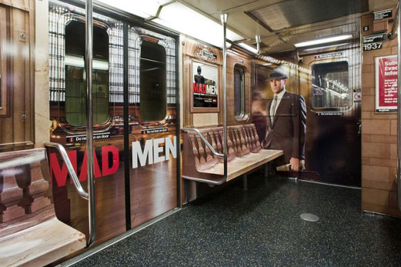 Publicty of Mad men in New York subway