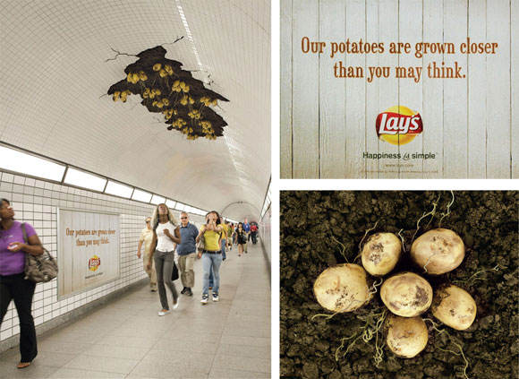 Lays chips grown in the subway for publicity