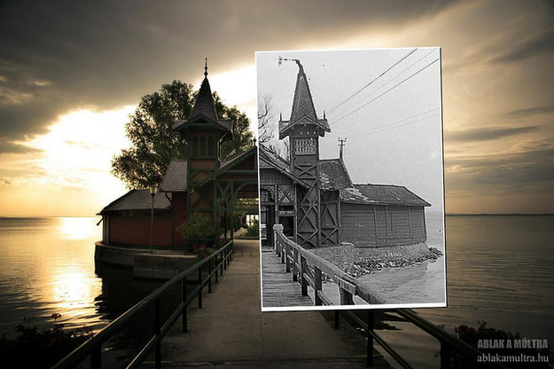 1946 and 2011--Location: Island Keszthely, Hungary.