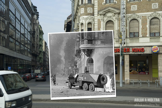 1956 and 2011--Location: Hungary Place Louise Blaha, Rákóczi út 44 Wattle St.
